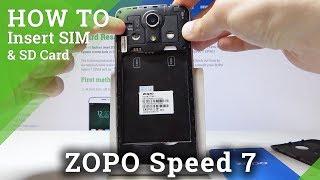 How to Insert SIM & SD Card in ZOPO Speed 7 - SIM & SD Installation