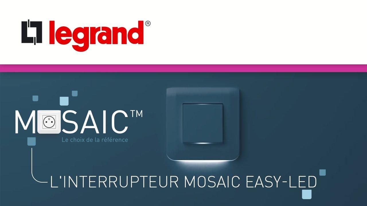 Interrupteur Mosaic Easy Led Par Legrand 3 Fonctions Dans 1 Interrupteur