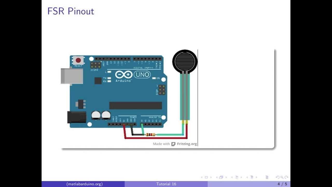 MATLAB Arduino Tutorial 16 - Force Sensitive Resistor (FSR) Calibration and  Visualization