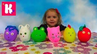 Животные заводные сюрприз из массы для объёмной лепки игрушки animals toys in magic surprise eggs