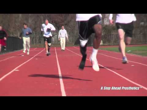 Below Knee Sprinter at the Track