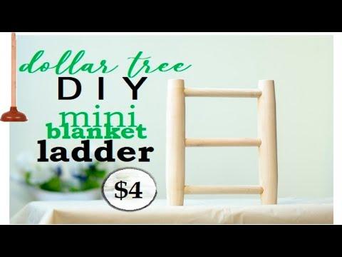 Dollar Tree DIY | DIY Farmhouse Blanket Ladder