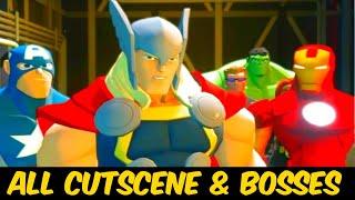 Disney Infinity 2.0 Marvel Super Heroes - The Movie (All Cut Scenes & Bosses)