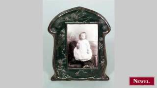 Antique English Arts & Crafts Copper Easel Picture Frame