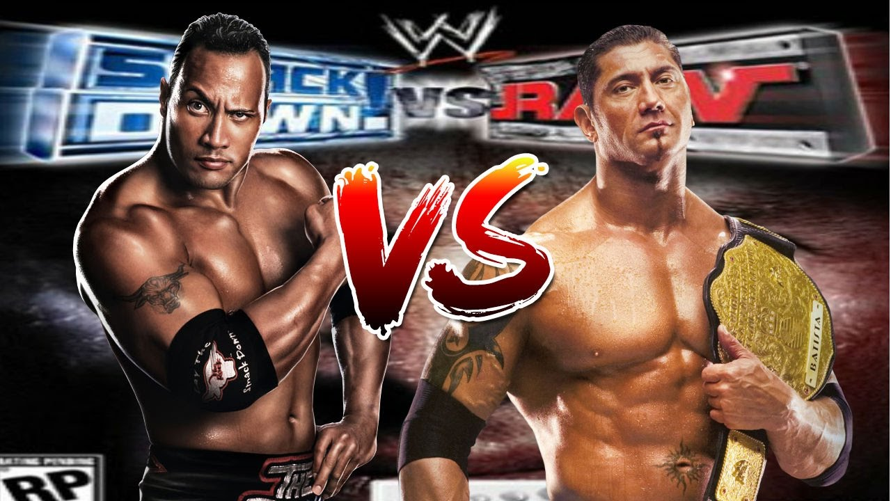 wwe smackdown vs raw the rock vs batista youtube