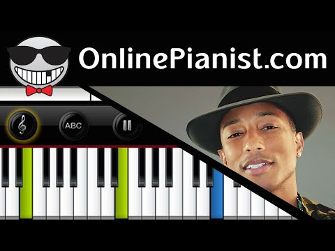 How to play Happy by Pharrel Williams (Despicable me 2) - Piano Tutorial & Sheets (Easy & Advanced)