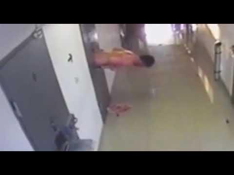 Побег из тюрьмы (видео с камер наблюдения изолятора)