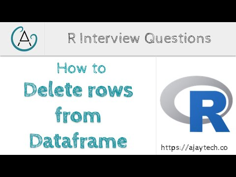 How to delete rows from a Dataframe in R