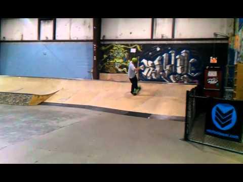Boardslide across funbox springfield skatepark