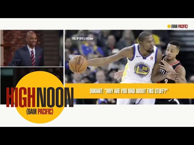 1abd906b7e9 NBA  Portland s CJ McCollum calls out Warriors  Kevin Durant ...