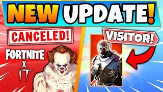 "Fortnite IT EVENT CANCELED + ""VOLTA"" VISITOR LEAKED (Fortnite Battle Royale Update)"