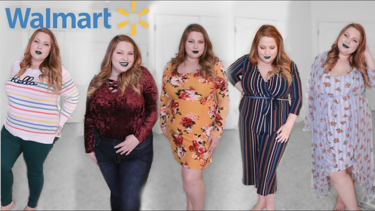 HUGE WALMART TRY ON HAUL! 10 outfits for $150!! | Plus Size Fashion