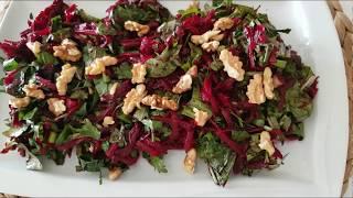 Çiğ Pancar Salatası ( Lezzet ve Sağlık Vadeden Pratik Salata)