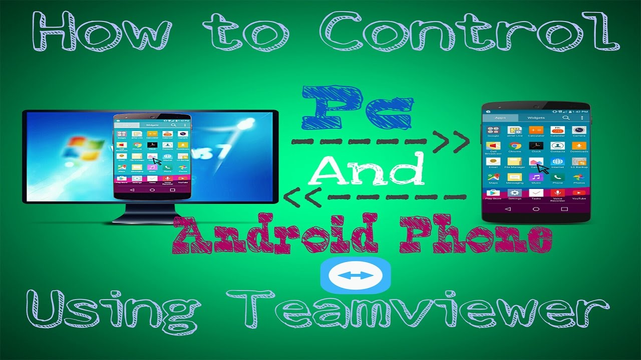 How To Control Pc And Android Phone Using Teamviewer