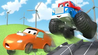 Canavar kamyon (Yeniden gösterim) - Süper Kamyon Carl araba şehrinde 🚚 ⍟ Çocuklar için