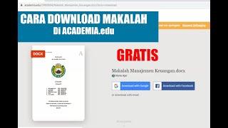 Cara Download Makalah Di Academia Edu 100 Free Youtube