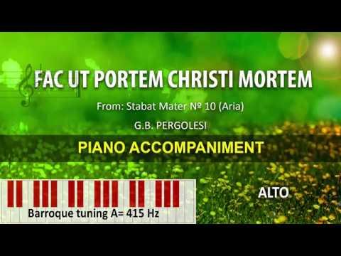 Fac ut portem Christi mortem / Pergolesi: Karaoke + Score guide / alto A=415