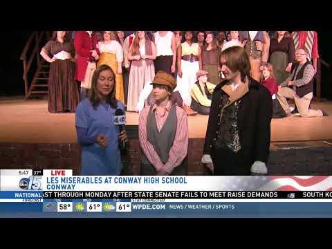 Amanda Live at Les Miserables at Conway High School - Good Morning Carolinas - WPDE ABC 15