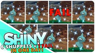 [Live] 6 Shiny Shuppet Reactions + 1 FAIL! 7 Shiny Pokemon Montage!