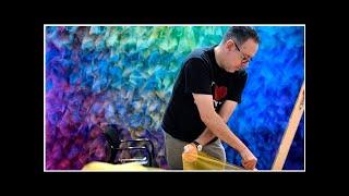 Artist-in-residenceGabriel Dawemakes rainbows at Cheekwood