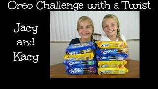Oreo Challenge with a Twist ~ Jacy and Kacy