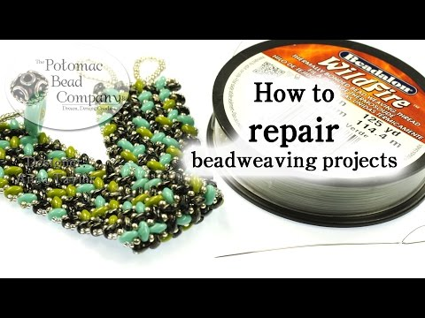 How to Repair Broken Beadweaving Projects (Bracelets, Neckla