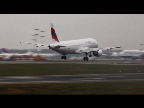 Air Armenia EK32039  Airbus A320-214 / Посадка во Внуково (VKO/UUWW)