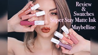 Review & Swatches Super Stay Matte Ink Maybelline  AD| Dirty Closet