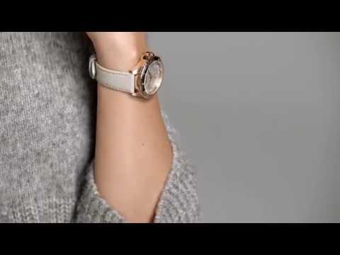 e73fe0944e0 Hugo Boss Premiere Beige Leather Women's Watch - 1502447 - YouTube