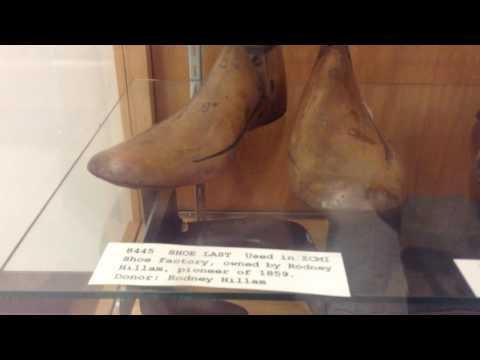 Museum Artifacts of shoe repair from 1800s display; Salt Lake City, Utah