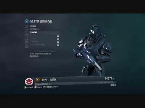 how to get elite armor in halo reach