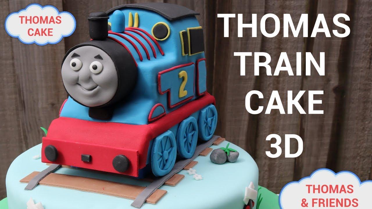 Thomas Cake How To Make 3d Thomas Train Birthday Cake Youtube