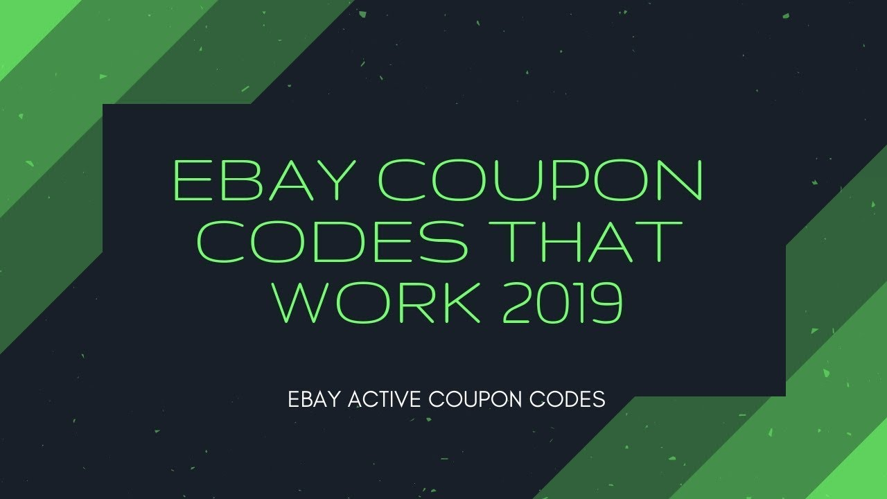 Ebay Coupon Codes That Work 2019 You Are Overpaying Youtube