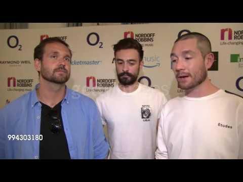 bastille  at o2 silver clef awards 2018