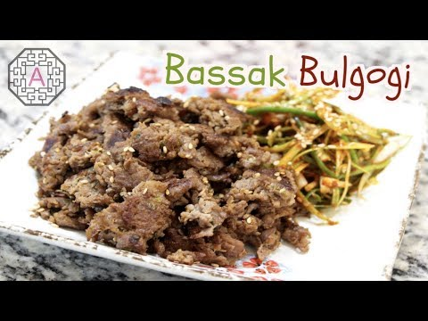 Korean BaSsak Bulgogi (바싹 불고기) & Spicy Green Onion Salad (파절이) | Aeri's Kitchen