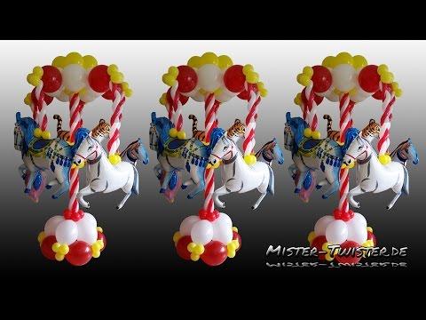 Balloon Carousel, Decoration, Horse, Ballon Karussell, Dekoration, Luftballon, Link O Loon, Pferd