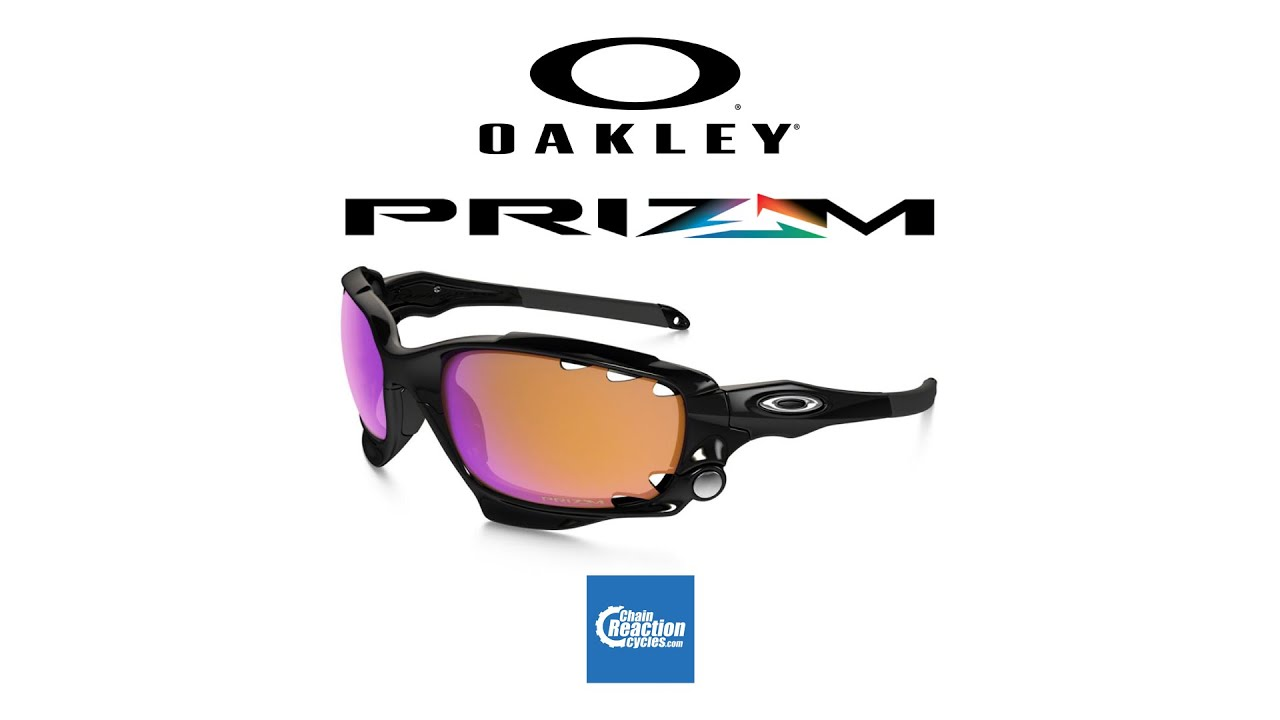 2eedc9e45bb Oakley Prizm Trail Racing Jacket Sunglasses - YouTube