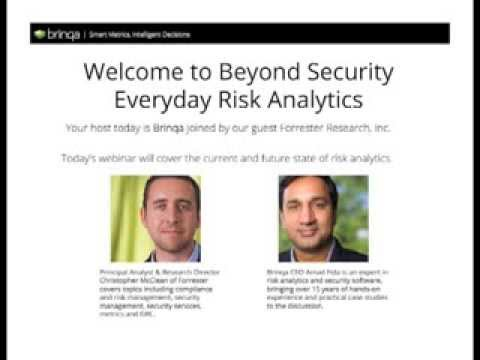 Beyond Security   Everyday Risk Analytics