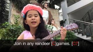 Uke #5 - Rudolph the red nosed reindeer - Fiona Thai's cover - ukulele, lyrics and chords [HD]