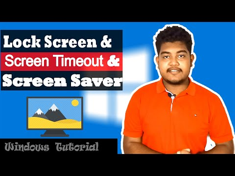 How To Change Lock Screen,screensaver & Screen Timeout(Bangla)। Windows Tutorial