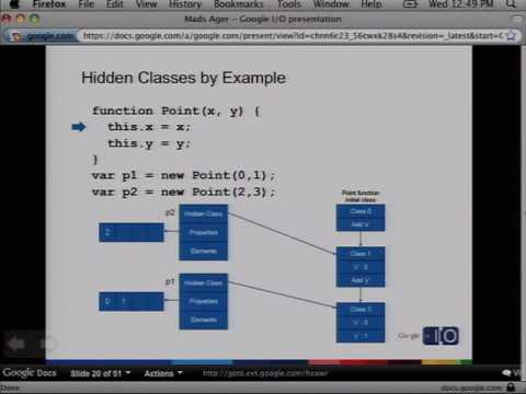 Google I/O 2009 - V8: ..High Performance JavaScript Engine