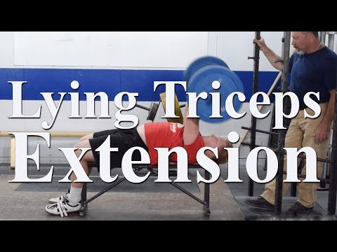 How to do the lying triceps extension with Mark Rippetoe