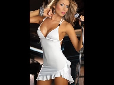 White micro mini dress images