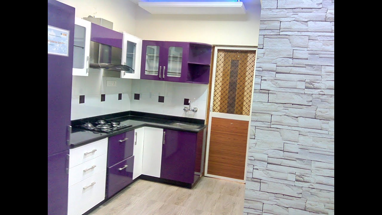 Pics for small indian kitchen design in l shape for Modular kitchen designs for small kitchens in india