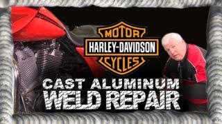 cast aluminum harley davidson weld repair   tig time