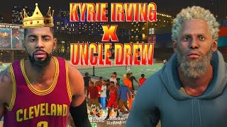 Uncle drew x kyrie irving @ the park | kyrie is unstoppable omfg! scoring machine | nba 2k16 my park
