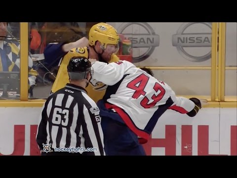 Tom Wilson vs Mike Fisher Feb 25, 2017