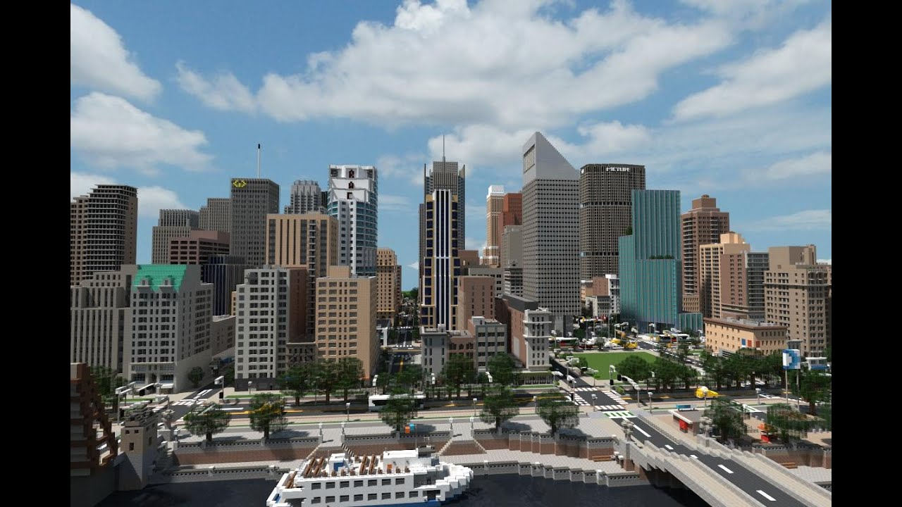 minecraft downtown city download