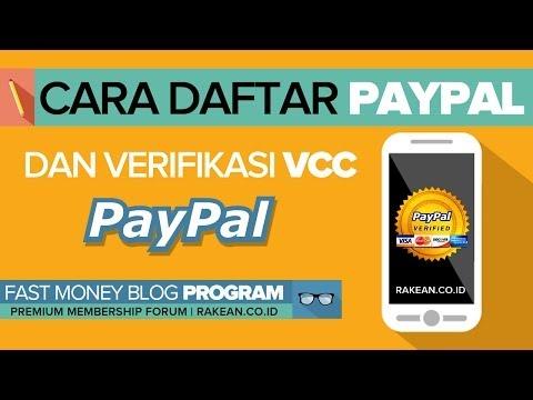 Cara Daftar Paypal & Verifikasi VCC