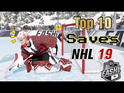 My goalie highlights from playing NHL 19 online this past year, check it!
